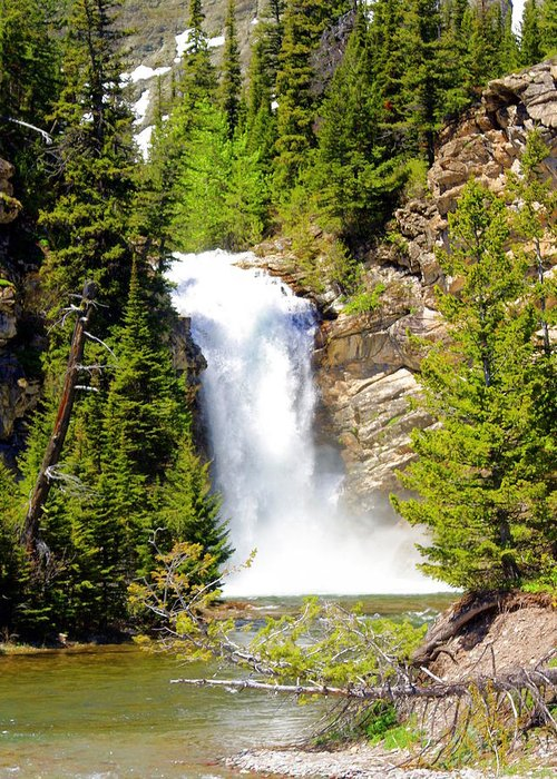 Waterfalls Greeting Card featuring the photograph Running Eagle Falls by Marty Koch