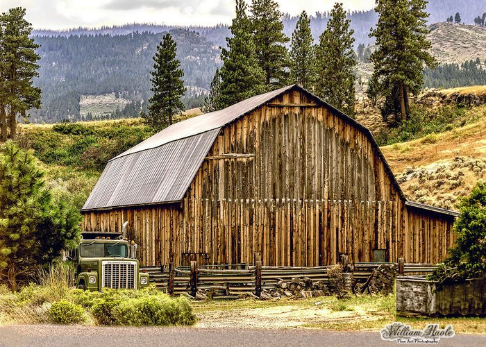 Barn Greeting Card featuring the photograph Rural Oregon Barn by William Havle