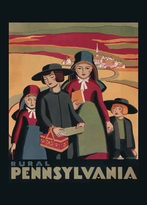 Amish Mixed Media Greeting Cards