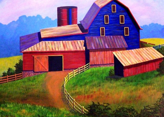 Landscape Greeting Card featuring the painting Rural Reverie by Hugh Harris