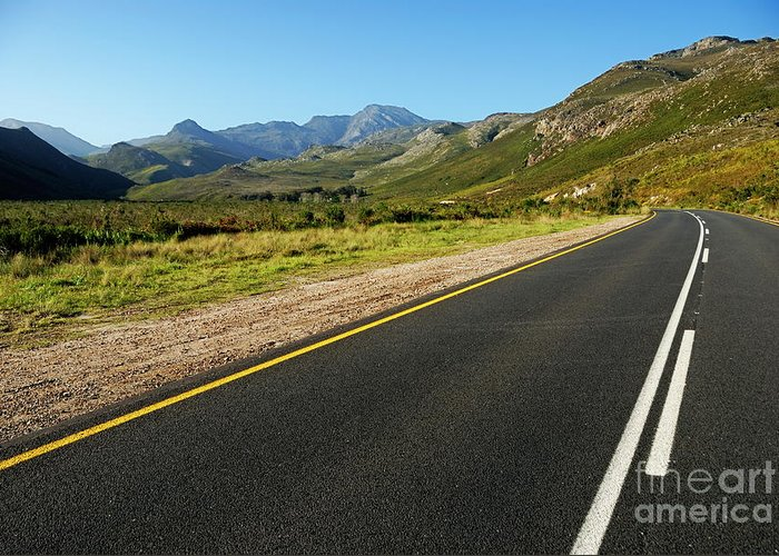 Absence Greeting Card featuring the photograph Rural Road by Sami Sarkis