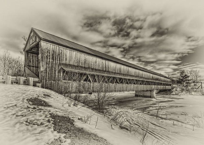 Covered Bridge Greeting Card featuring the photograph Rusagonish Covered Bridge by Jason Bennett