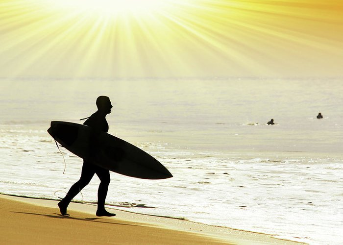 Surf Board Greeting Cards
