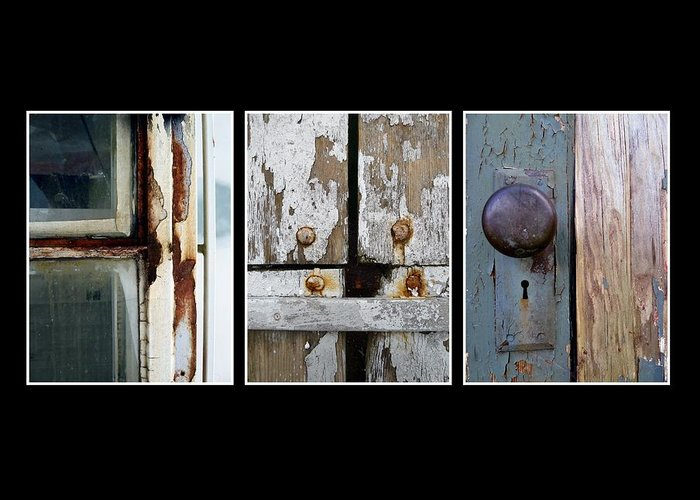 Trio Greeting Card featuring the photograph Rustic Elements by Patricia Strand