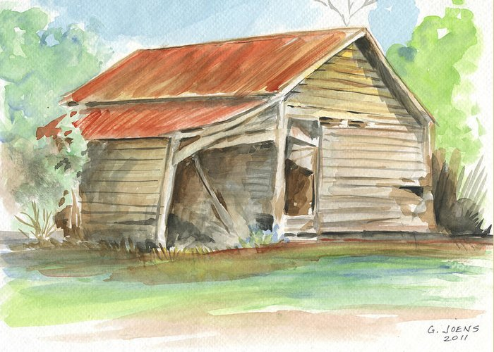 Rusty Tin Roof Greeting Cards