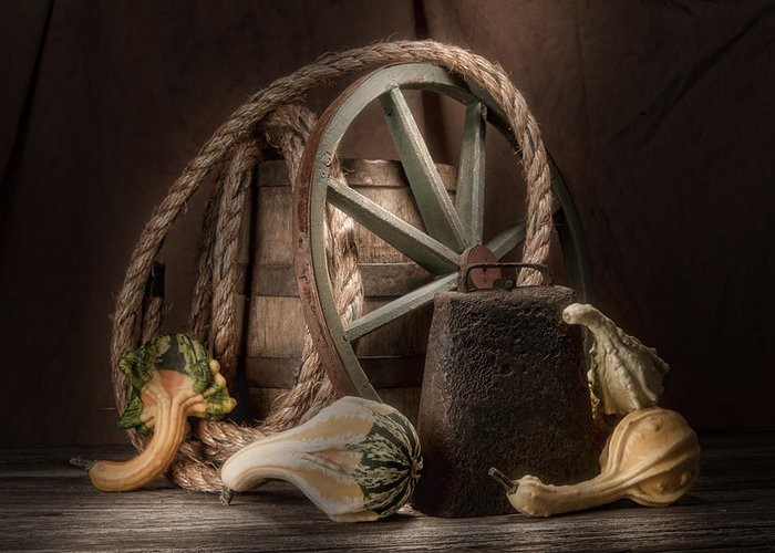 Gourd Greeting Card featuring the photograph Rustic Still Life by Tom Mc Nemar
