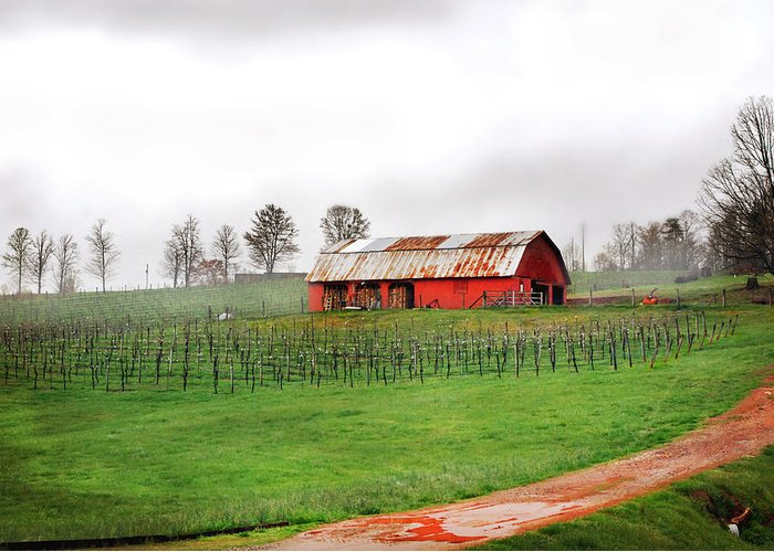 Barn Print Greeting Card featuring the photograph Rustic Wine by Robert Smith
