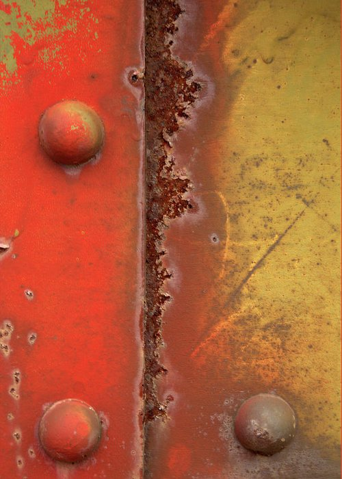 Worn Out Greeting Card featuring the photograph Rusting by Karol Livote
