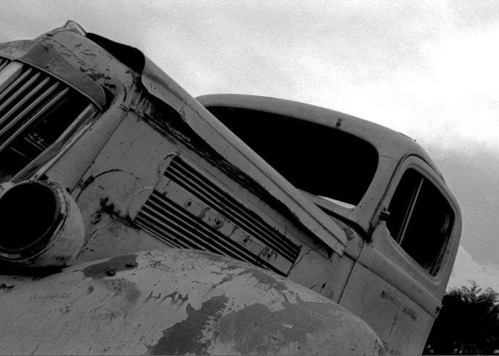 Old Greeting Card featuring the photograph Rusty Car by Johnny Aguirre