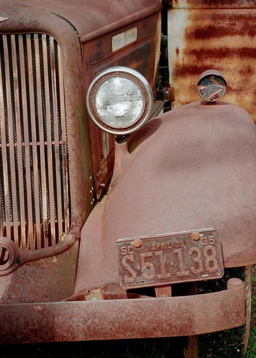 Car Greeting Card featuring the photograph Rusty by Flavia Westerwelle