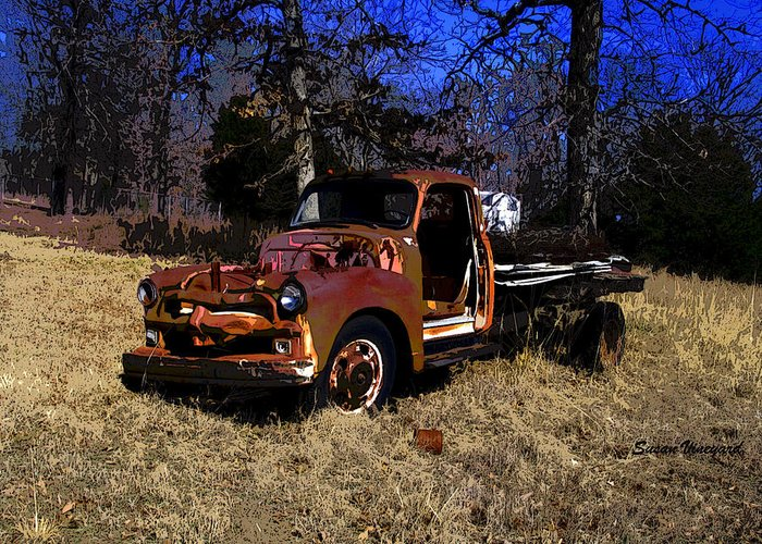 Truck Greeting Card featuring the photograph Rusty Truck by Susan Vineyard