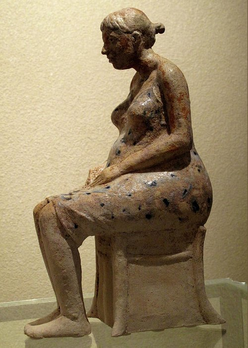 Sculpture Greeting Card featuring the sculpture Ruta by Raimonda Jatkeviciute-Kasparaviciene