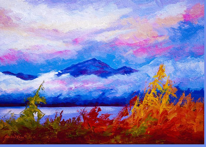 Alaska Greeting Card featuring the painting Rythmn Of The Arctic by Marion Rose