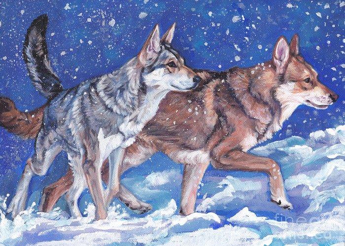 saarloos Wolfhound Wolfdog Greeting Card