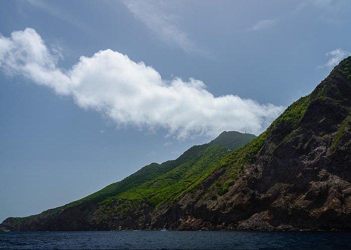 Saba Greeting Card featuring the photograph Saba Island by Andriy Zolotoiy