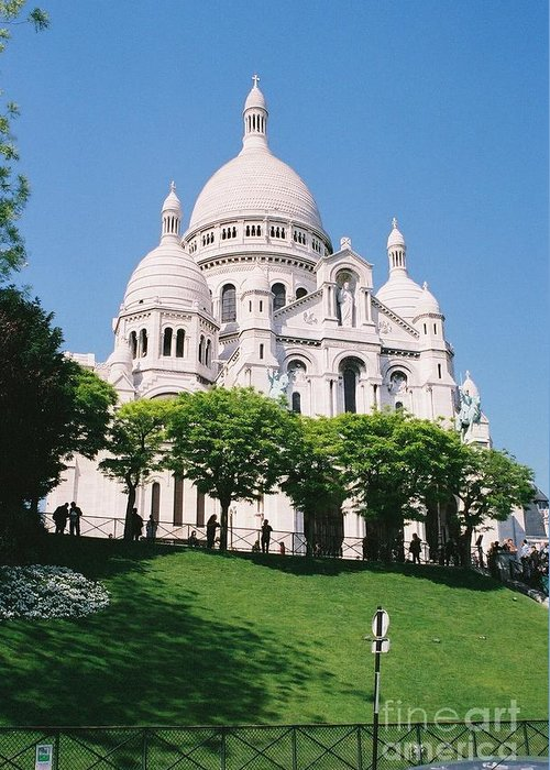 Church Greeting Card featuring the photograph Sacre Coeur by Nadine Rippelmeyer