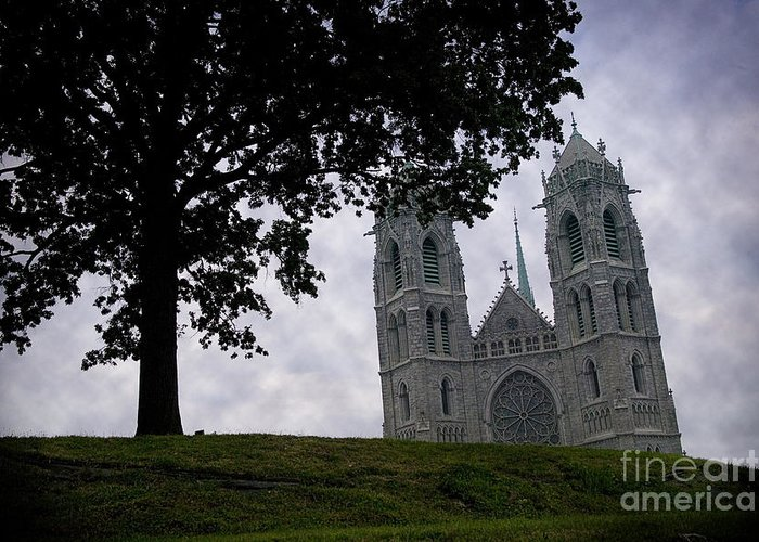 Newark Greeting Card featuring the photograph Sacred Heart Cathedral Newark New Jersey by Yuri Lev