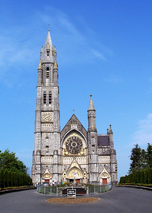Ireland Greeting Card featuring the photograph Sacred Heart Church Roscommon Ireland by Teresa Mucha