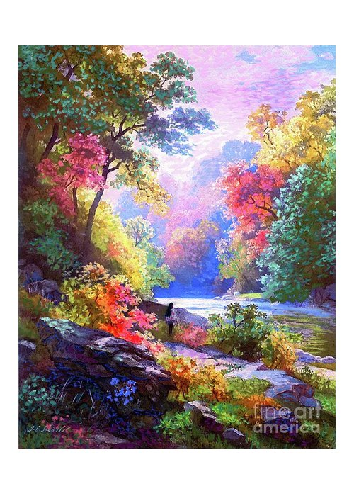 Meditation Greeting Card featuring the painting Sacred Landscape Meditation by Jane Small