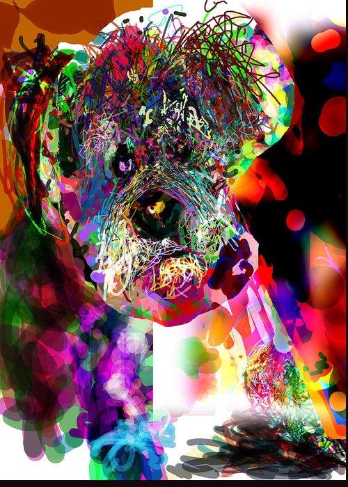 Dog Greeting Card featuring the digital art Sad Dog by James Thomas