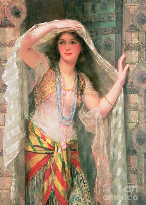 Safie Greeting Card featuring the painting Safie by William Clark Wontner