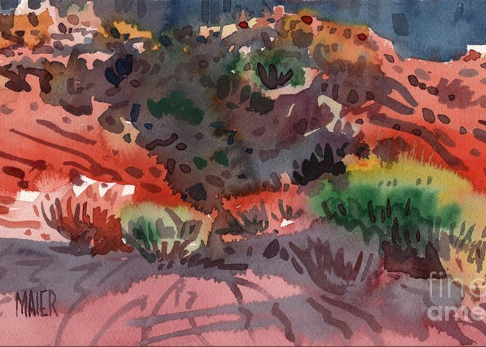 Sagebrush Greeting Card featuring the painting Sagebrush by Donald Maier