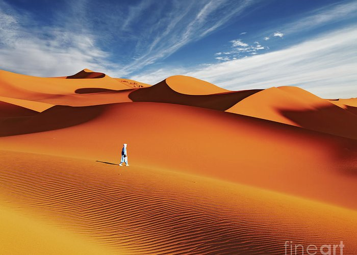 Africa Greeting Card featuring the photograph Sahara Desert, Algeria by Dmitry Pichugin