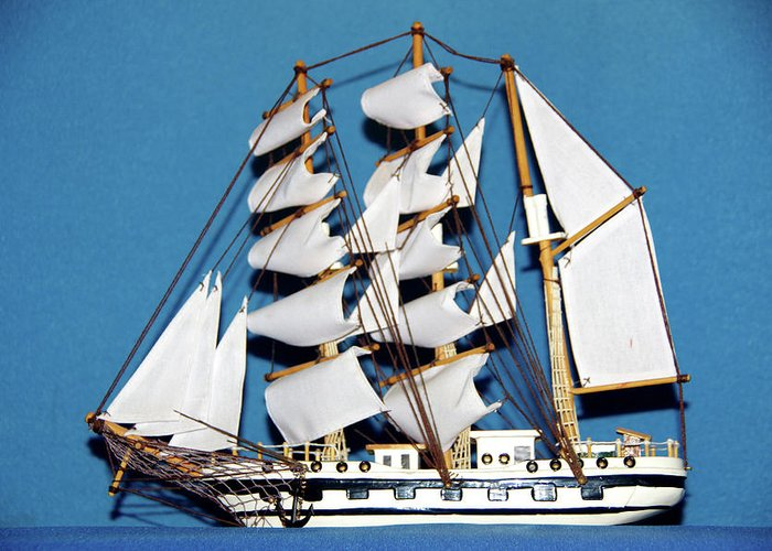 Sail Greeting Card featuring the photograph Sail Ship by Hugh Kroetsch
