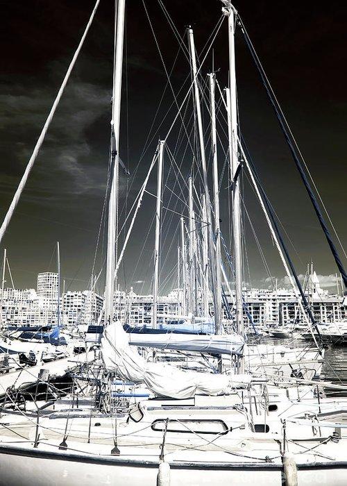 Sailboat Nap Greeting Card featuring the photograph Sailboat Nap by John Rizzuto