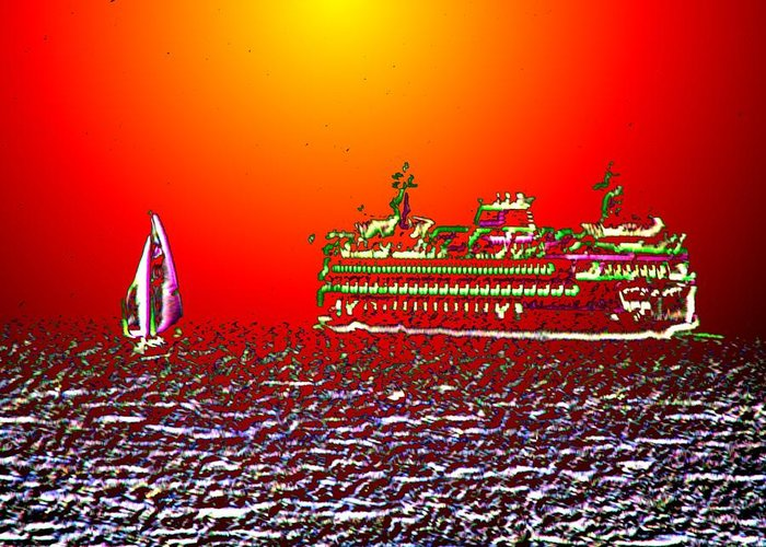 Sail Greeting Card featuring the photograph Sailin The Sound by Tim Allen