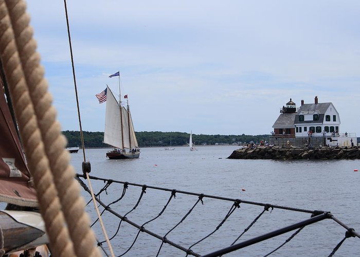 Seascape Greeting Card featuring the photograph Sailing In by Doug Mills