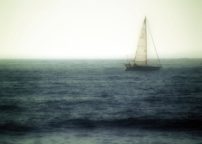 Sailing Greeting Card featuring the photograph Sailing by Lyle Huisken