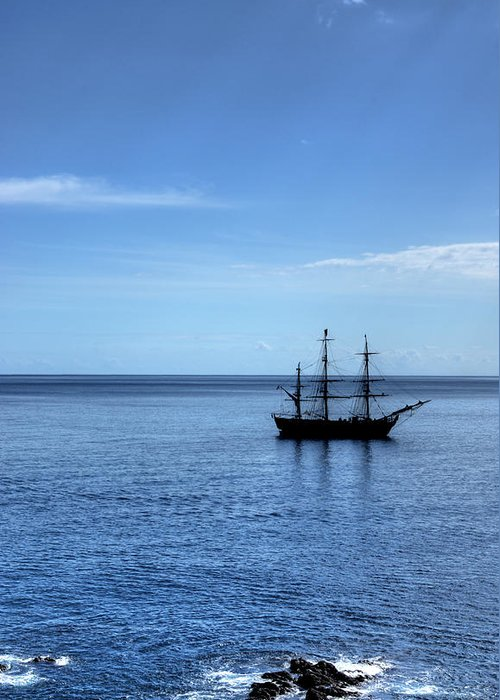 Ship Greeting Card featuring the photograph Sailing Ship by Alan Pickersgill