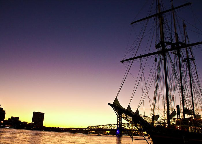 Sailing Greeting Card featuring the photograph Sailing Through The City by Jennifer Carrico