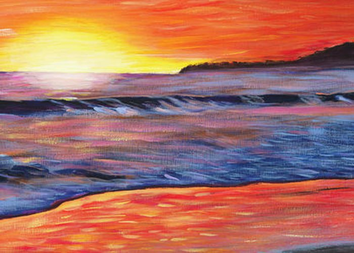 Sunset Painting Greeting Card featuring the painting Sailor's Delight by Anne West