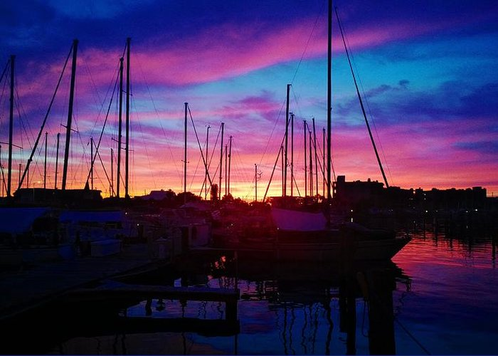 Sailors Delight Greeting Card featuring the photograph Sailors Delight by Charles J Pfohl