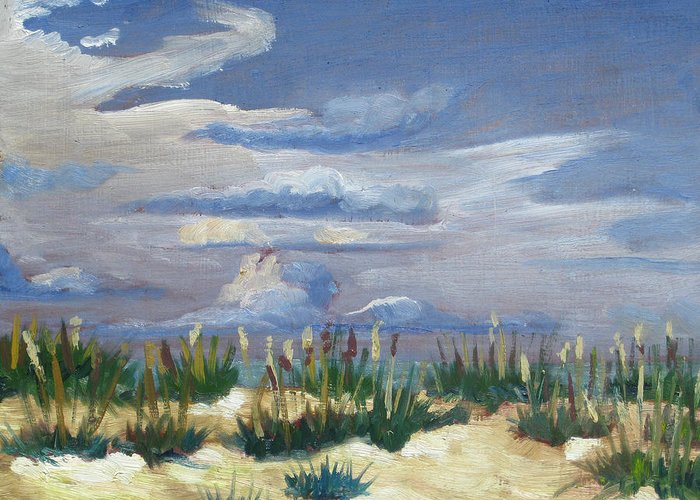 Beach Greeting Card featuring the painting Saint Augustine Beach by D T LaVercombe