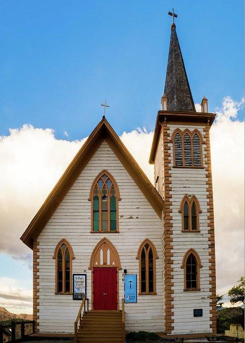 Mair's Photography Greeting Card featuring the photograph Saint Paul's Episcopal Church Verginia City Nevada by TL Mair