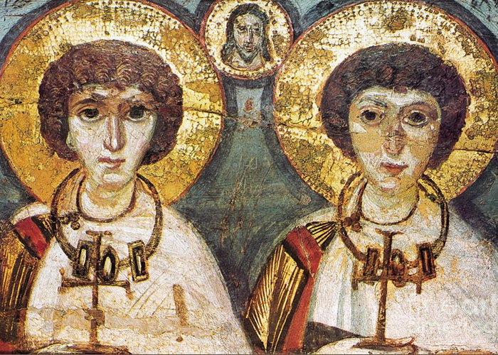 7th Century Greeting Card featuring the photograph Saints Sergius And Bacchus by Granger