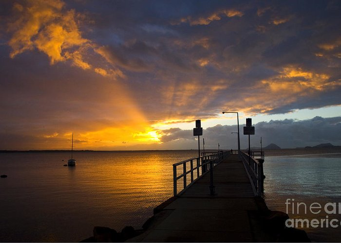 Sunrise Greeting Card featuring the photograph Salamander Bay Sunrise by Sheila Smart Fine Art Photography