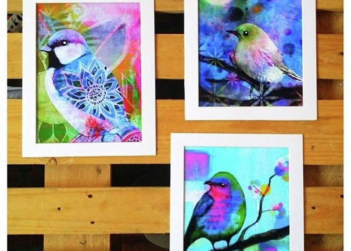 Greeting Card featuring the photograph *sale* 3 11 X 14 In. Bird Prints With by Robin Mead
