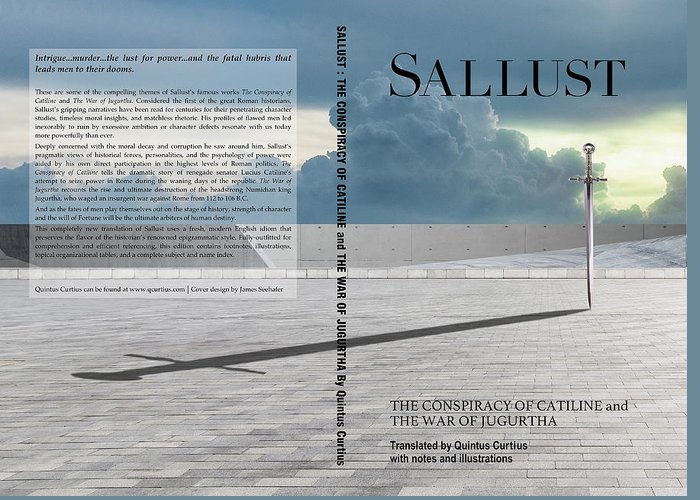 Quintus Curtius Greeting Card featuring the digital art Sallust Cover by Quintus Curtius