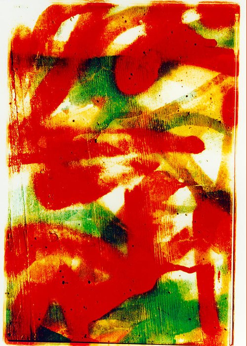 Abstract Greeting Card featuring the photograph Salsa by David Rivas