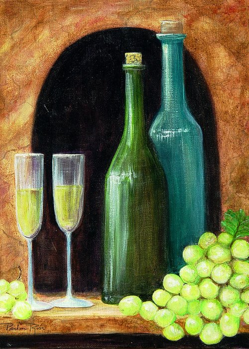 White Grapes Greeting Card featuring the painting Salute by Pauline Ross