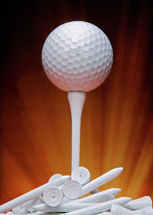 Activity Greeting Card featuring the photograph Salute To Golf by Tom Mc Nemar