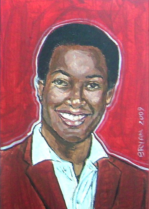 Sam Cooke Greeting Card featuring the painting Sam Cooke by Bryan Bustard