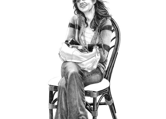 Figure Drawing Greeting Card featuring the drawing Samantha Jonice Elliott by Murphy Elliott