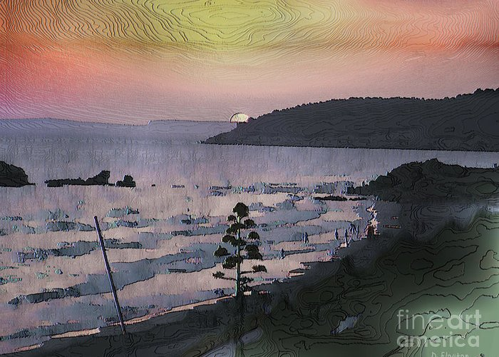 Sunset Greeting Card featuring the photograph San Adeodato Sunset by Dee Flouton