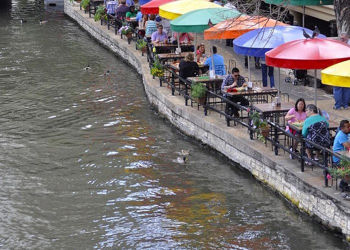 San Antonio River Walk Greeting Card featuring the photograph San Antonio Riverwalk by Kristina Deane
