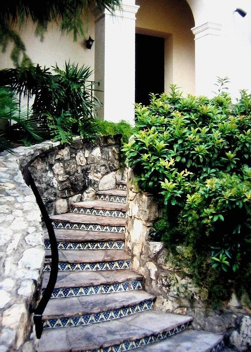 San Antonio Stairway Greeting Card featuring the photograph San Antonio Stairway by Will Borden